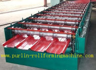 सबसे अच्छा High Speed 0 - 20m / min Roofing Panel Roll Forming Machine For Roof Tile for sale