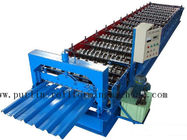 सबसे अच्छा PLC Steel Metal Roof Panel Roll Forming Machine , Roofing Sheet Roll Former 5 Ton for sale