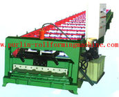 सबसे अच्छा Automatic Rock Wood / EPS Sandwich Panel Roll Forming Machine , Roof Tile Production Line for sale
