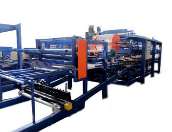 चीन Colored Steel PU Sandwich Panel Production Line , Roof Panel Roll Forming Equipment फैक्टरी